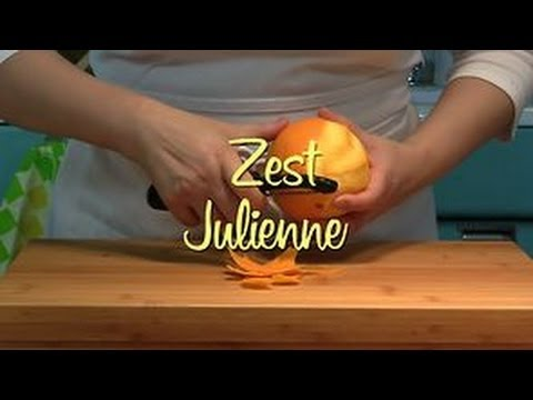 How to Make Julienned Zest