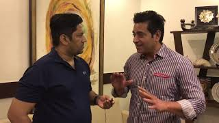 Aaqib Javed talks about PCB current situation.| Yahya Hussaini |