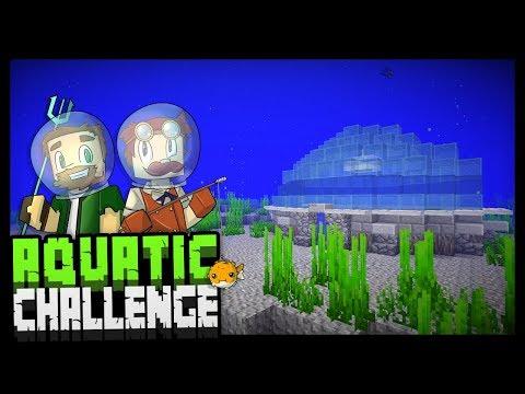 UNDER THE SEA!! - Minecraft Aquatic Challenge - #1