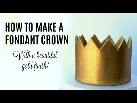 How to make a fondant crown!