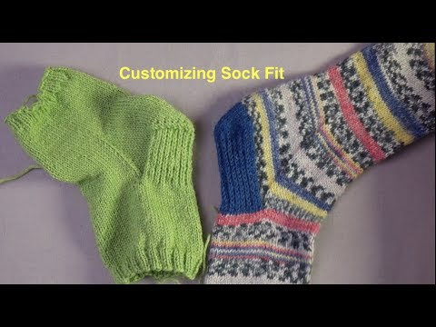 Techniques for Custom Fit Socks
