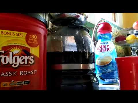 Fresh Pot Brew Folgers Classic Roast With Nestle French Vanilla By Coffee Maker