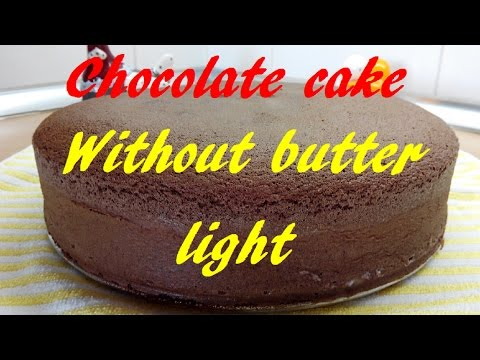 Chocolate Sponge Cake, No butter, Light, Basic cake