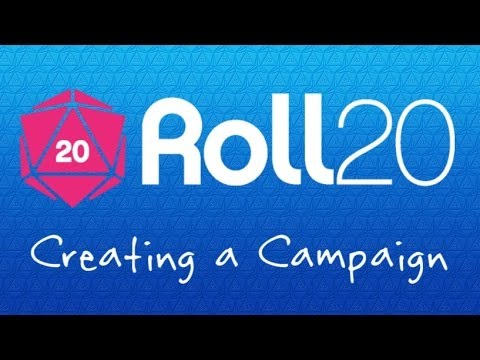 1 Roll20 Crash Course - Creating a Campaign