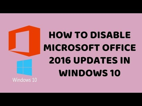 How To Disable Microsoft office 2016 Updates in Windows 10    Easy Tutorials In Hindi