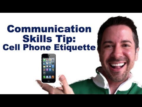 Communication Skills Training: Cell Phone Etiquette: Send this to THAT PERSON