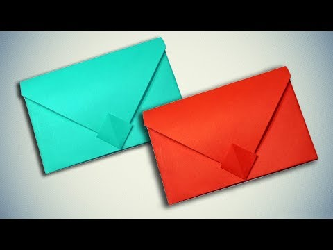How To Make a Paper Envelope Without Glue or Tape - Origami Easy
