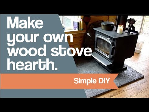 Make your own wood stove hearth.