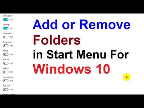 How to Add or Remove Folders in Start Menu For Windows 10