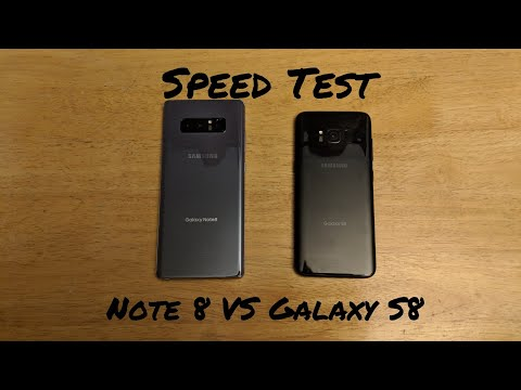 Samsung Galaxy Note 8 VS Samsung Galaxy S8 Speed Test