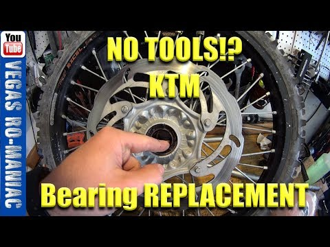 KTM front wheel bearings replacement - DIY without any special tools Less than  $13