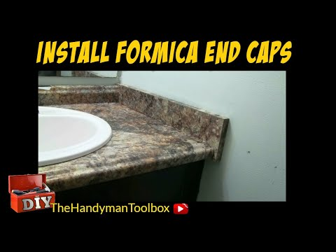 How To Install Formica End Caps On A Bathroom Vanity