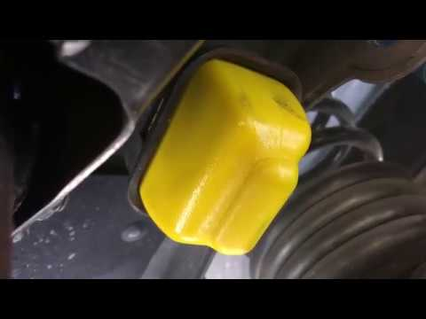 Install Front Bump Stop Jeep Grand Cherokee WJ 2001 DIY