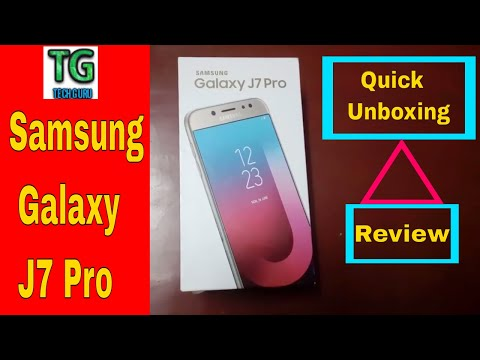 Samsung Galaxy J7 Pro Quick Unboxing,Review,SAR Value,Camera Quality | HINDI |