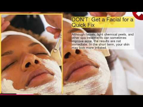 Acne Care Dos and Don'ts