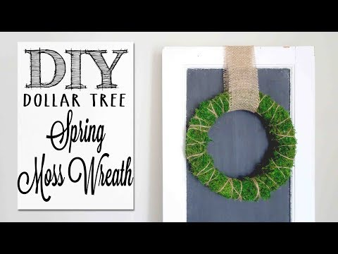 DIY Moss Wreath | Dollar Tree Craft
