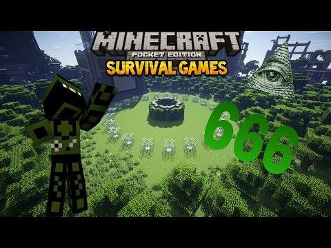Hunger games!!#14killing illuminati!!(mcpe)