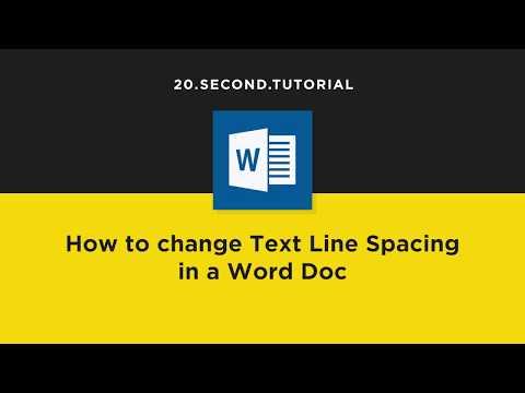 Change text line spacing in Word | Microsoft Word Tutorial #6