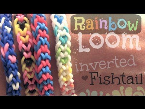 RAINBOW LOOM : Inverted Fishtail Bracelet - How To | SoCraftastic