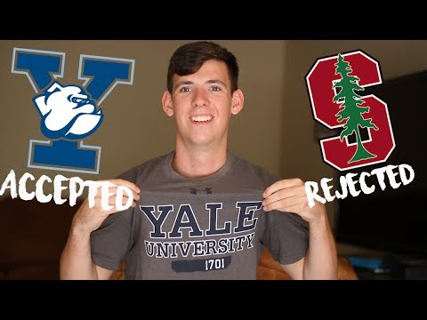REJECTED FROM STANFORD! ACCEPTED TO YALE! // My College Application Story