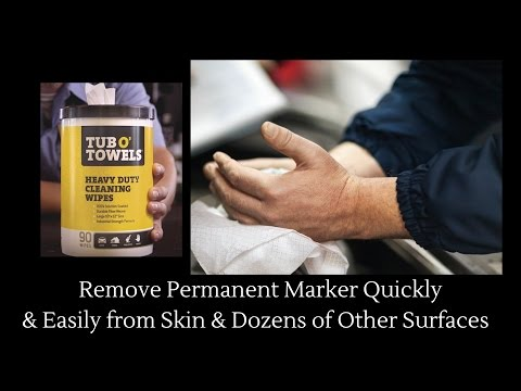 How to Remove Permanent Marker from Skin, Walls, Leather, Wood, Clothes & More