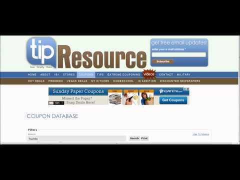 HOW TO FIND COUPONS - EXTREME COUPONING DATA BASE VIDEO