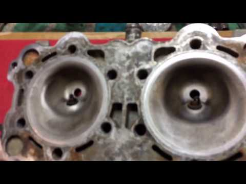 Resurfacing a sea doo cylinder head without the need of a machine shop amazing results!!!!