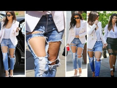 Sexy Torn Jeans Making Tricks - Ripped jeans tutorial
