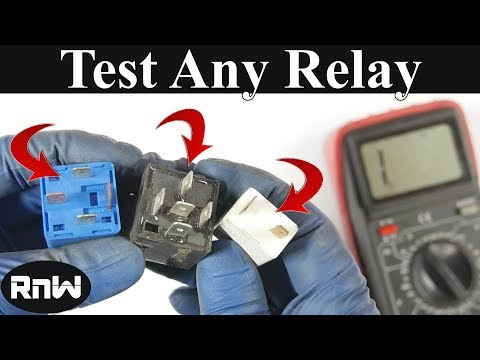 How to Test a 3, 4 or 5 Pin Relay - With or Without a Diagram