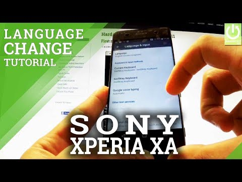 Change Language in SONY Xperia XA F3111 - Available Languages