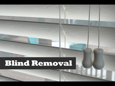 How To Remove & Install Vinyl Blinds.  DIY Blind installation and Removal Tips.