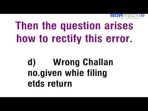 How to correct error in 26AS