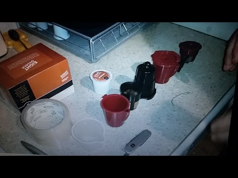 Keurig VUE fix K cup to stop leak or explosion in solofill V1 / V2 plus clean unclog blockage Fixed