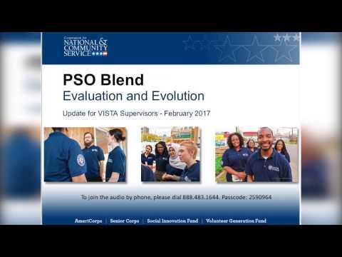 PSO Blend Evaluation and Evolution