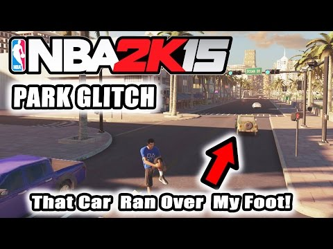 NBA 2K15 Park Glitch! Ran Over By A Car! Exploring The Environment!