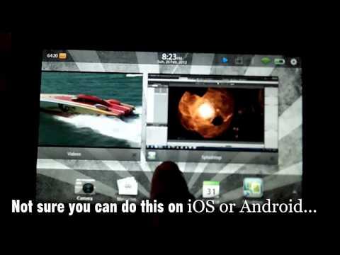 iClone 5 on Blackberry PlayBook via Splashtop