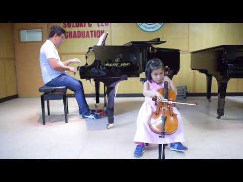 Abia's Suzuki Cello Book 1 Graduation Recital - Part 2 (4 years old)