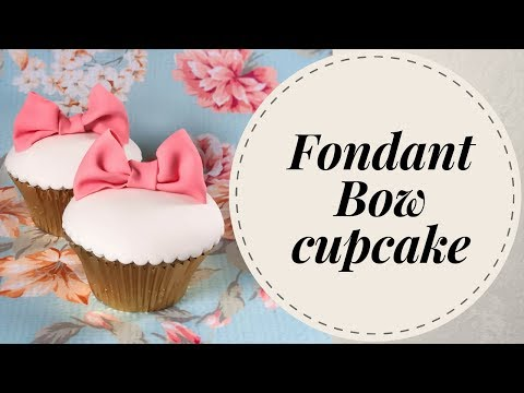 How to make Fondant bow cupcake (3 mins) | Irma's Fondant Cakes