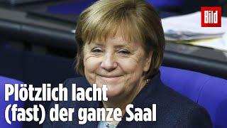 Merkel kontert Frage von AfD-Politiker mit Humor
