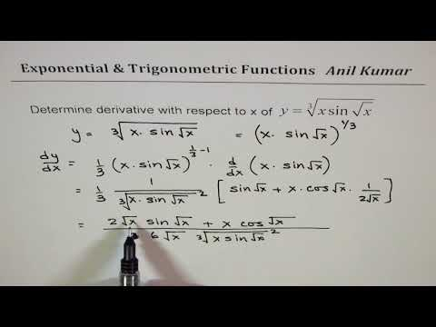 Derivative of Exponential and Trigonometric Composite Functions