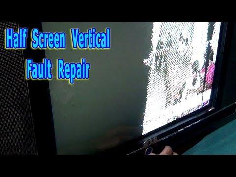 How To Repair Half-Screen Vertical Fault Of CRT Color Television (Bengali Tutorial)