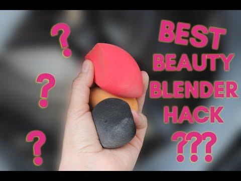 BEST way to clean Beauty Blender! - BEAUTY BLENDER HACKS !! (2018) | Claire Tutorials