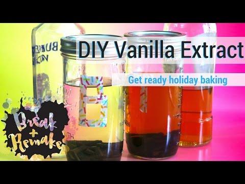 DIY Vanilla Extract - vanilla beans and alcohol