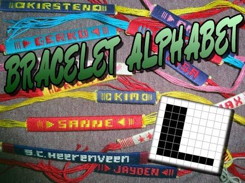 Friendship Bracelet Crochet Yarn, Alphabet: Letter L