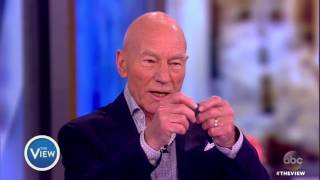 Sir Patrick Stewart On Becoming U.S. Citizen, Star Trek Bloopers With Former Co-Star Whoopi Goldberg