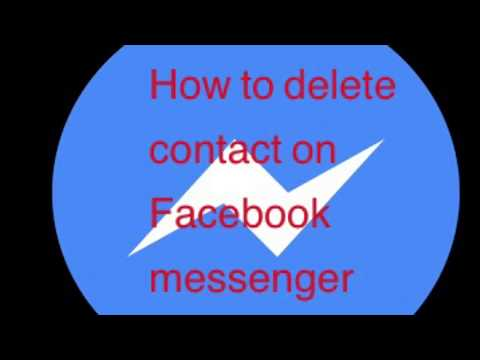 How to delete contact on Facebook messenger