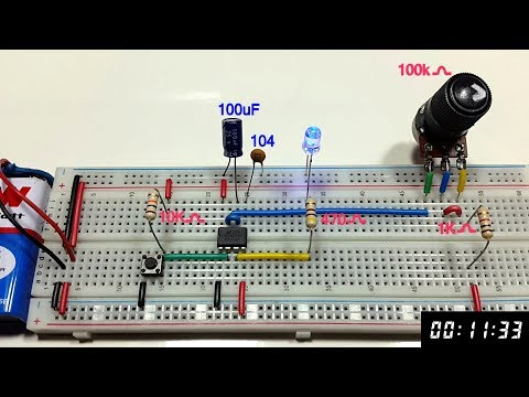 Variable Monostable multivibrator using 555 timer in Tamil & English,tamil electronics