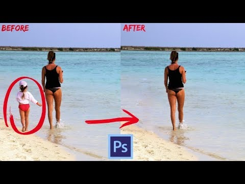 How to Remove unwanted people in Photoshop