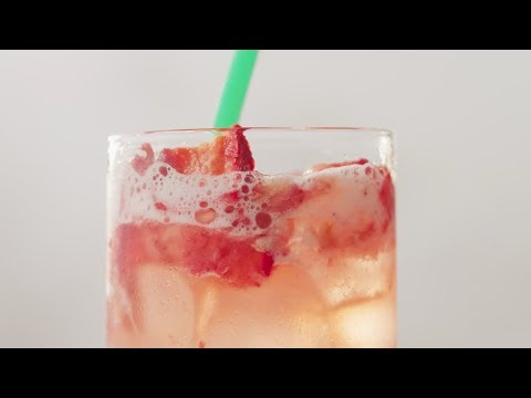 Afternoon Made at Starbucks -  Strawberry Acai Starbucks® Refreshers Beverage