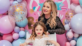 Nastya celebrates her birthday for 7 years